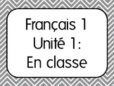 Basic French I Unit 1 for Beginners with 7 Lesson Plans &