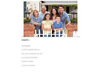 French I writing practice--family, house vocabulary