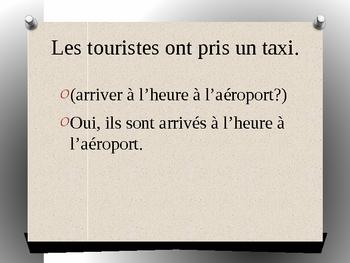 French II - Le passe compose - Logic sentences