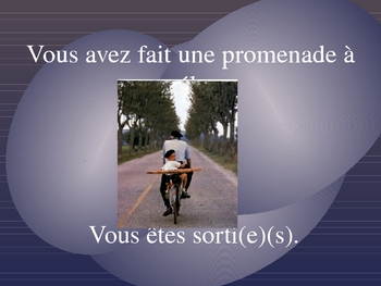 French II Le passe compose - practice with avoir and etre