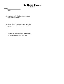 French II Speaking Final Questions