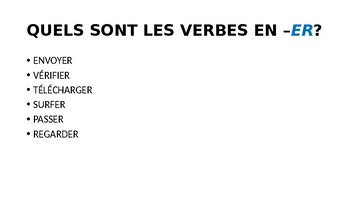 French II - Unit It's my life- verbs for activities after school-interactive