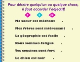 French II adjective review flipchart