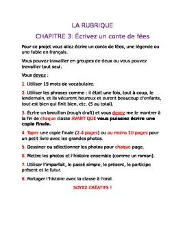 French III Fairytale Writing Rubric