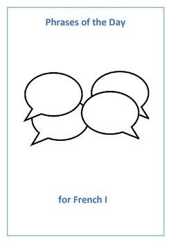 French I,II, and III Phrases of the Day - Bundle