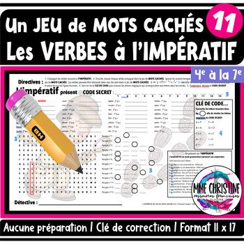 French IMPERATIVE Verbs - Word Search - Verbes à L'IMPÉRATIF - Mots cachés