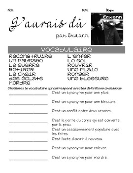 French INTERMEDIATE SONG for teaching CONDITIONNEL PASSE