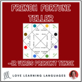 French IR VERBS - PRESENT TENSE fortune tellers for conjug