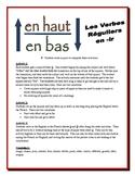 French IR Verb Partner Activities (Speak, Read, Listen, Write)