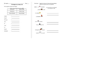 French -IR Verb and Conjugation Class Activities