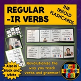 French IR Verbs Flashcards, Interactive Notebook Trifold F