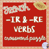 French -IR and -RE verbs crossword puzzle  LES VERBES EN -