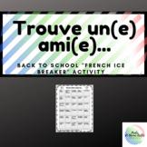 """Back to School """"French Ice Breaker Activity"""" Trouve un(e)"""