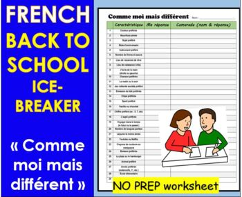 French Ice Breaker- Comme moi, mais différent