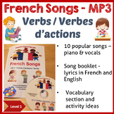 French Immersion - 10 Songs in MP3 & Song booklet - Learn