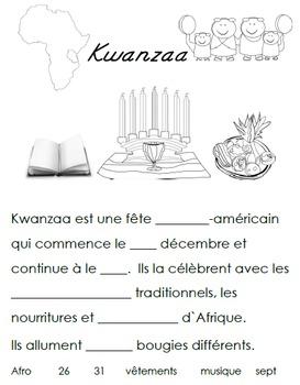 French Immersion, Celebration no.16 - Kwanzaa