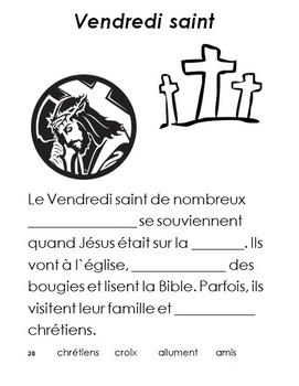 French Immersion, Celebration Bundle! - Pessah, Paques, Vendredi Saint