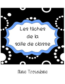 French Immersion Classroom Job Labels