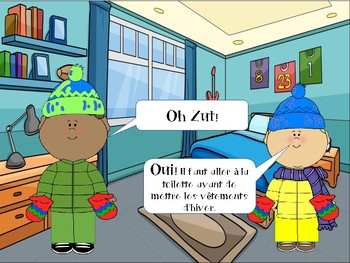 French EASY book to practise Winter Clothes- Vêtements d'hiver
