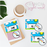 French Immersion English to French sight word cards