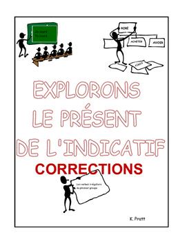 French Immersion-Explorons le présent-Corrections