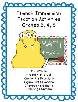 french immersion fraction worksheets grade 3 4 5 customizable by irene priest. Black Bedroom Furniture Sets. Home Design Ideas