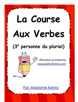 French Immersion Game: La course aux verbes - 3e pers. du pluriel