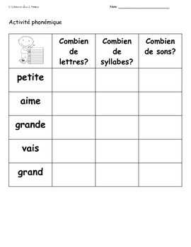 French Immersion Grade 1 Sight Words Package 18