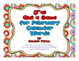 French Immersion J'ai Qui a Game February Calendar Words
