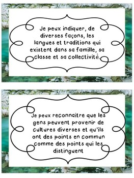 French Immersion K Treaty Education I Can Statement Posters