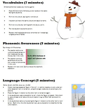French Immersion Language Development Christmas Activities