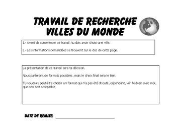 French Immersion-Les villes du Monde