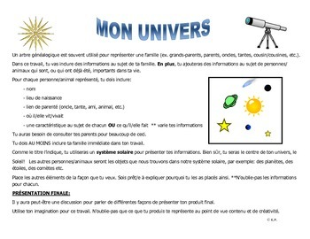 French Immersion-Mon univers