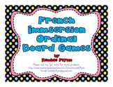 French Immersion Ordinal Board Games