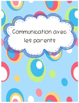 French Immersion Parent Communication Sheets/Log