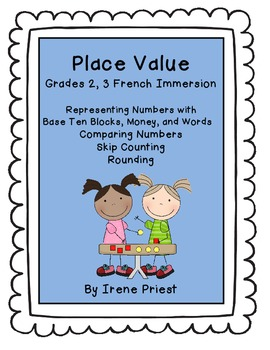 French Immersion Place Value Worksheets For Grades 2 And
