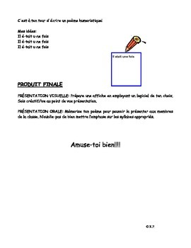 French Immersion-Poeme humoristique