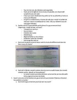 French Immersion Provincial Exam Review - Social Studies
