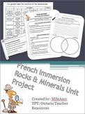 French Immersion Roches et Minéraux Unit Projects