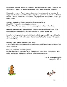 French Immersion Short Story-Rougette et Mouchetée