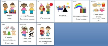 French Immersion - Self-introduction Prompt cards