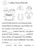 French Immersion, Celebration no.25 - La fête de le Saint-Patrick