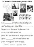 French Immersion, Celebration no.21 - Black History/L`hist