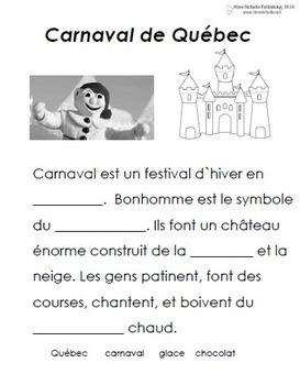 french immersion celebration carnaval de qu bec by mme nicholls. Black Bedroom Furniture Sets. Home Design Ideas