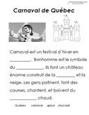 French Immersion, Celebration no.19 - Carnaval de Québec