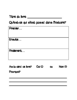 French Immersion Take-Home Reading Program