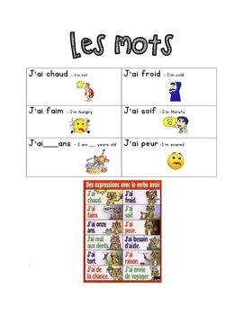 French Immersion Weekly Words Homework, Bell Work, 13 - Av