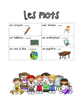 French Immersion Weekly Words Homework, Bell Work, 15 - Sc