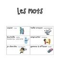 French Immersion Weekly Words Homework, Bell Work, Practice 12 - School Words
