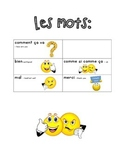 French Immersion Weekly Words Homework, Bell Work, Practice 4 - Comment ca va